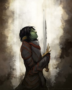 orc fighter woman