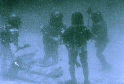 Su altı çekimlerinden bir sahne